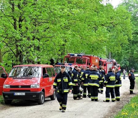 Strażackie manewry w Nadleśnictwie Łupawa. Ćwiczyli gaszenie lasu