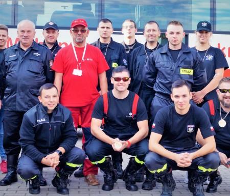 Strażacy ochotnicy zachęcali do oddawania krwi w Potęgowie