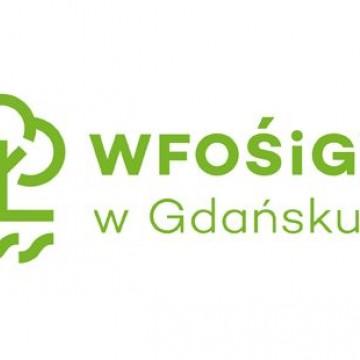 logo WFOŚiGW w Gdańsku napis i zarys drzewa w kolorze zielonym