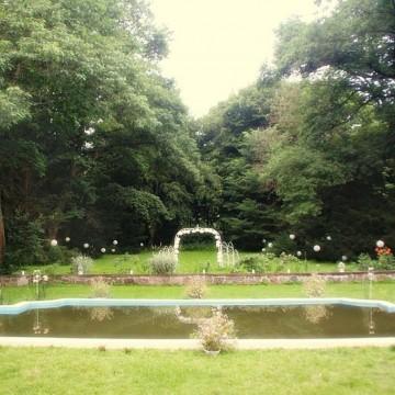 staw-fontanna w parku
